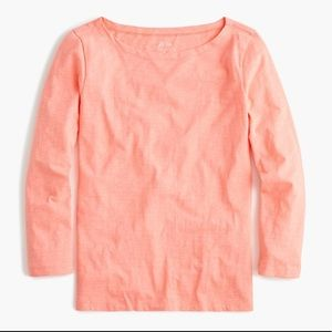 🆕J.Crew Salmon/Pink 3/4 Sleeve Painter's Tee